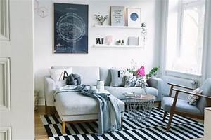 Wohnzimmer Neu Einrichten Kupfer Ros Und Blau