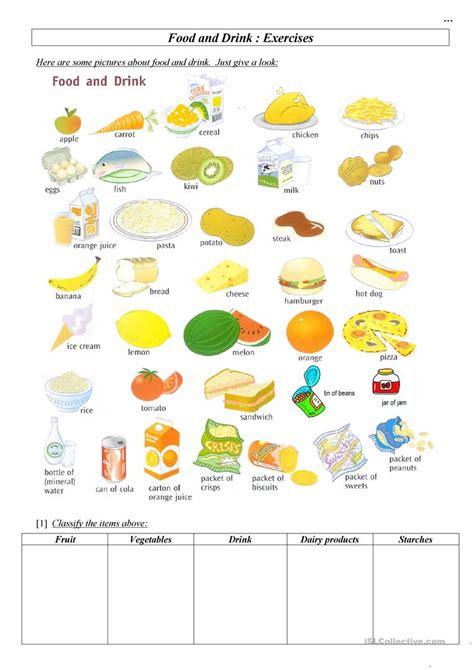 food drink worksheet free esl printable worksheets