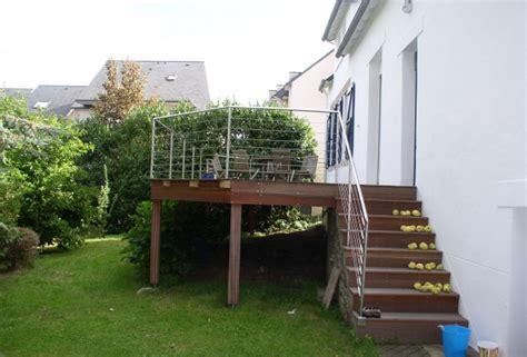 terrasse bois sur pilotis 224 quimper dherve menuiserie com