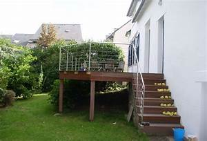 terrasse bois sur pilotis a quimper dherve menuiseriecom With terrasse sur pilotis en beton