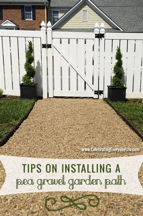 the best yard on the block with a diy pea gravel path