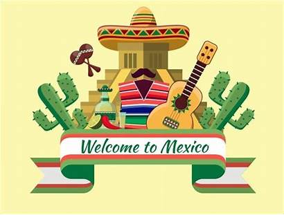 Banner Welcome Sample Template Mexican Mexico Templates