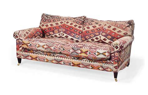 Kilim Loveseat a george smith kilim upholstered sofa of recent