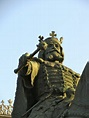 Equestrian statue of Stephen III of Moldavia in Iasi Romania