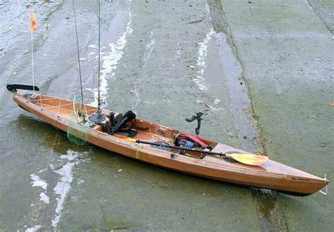 kit built wooden kayak  fishing love  kayaking pinterest fish boating  canoeing