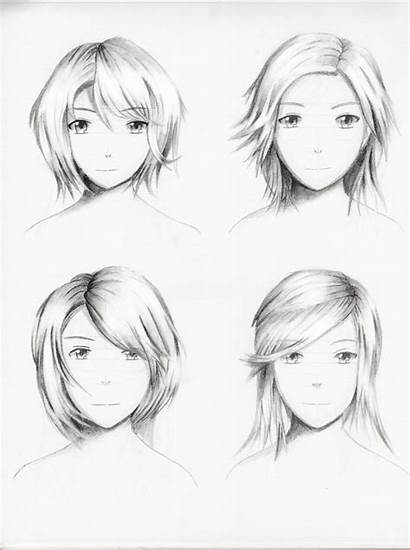Female Hairstyles Drawing Hairstyle Practice Getdrawings