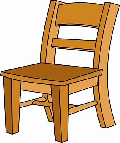 Chair Clipart Silla Cartoon Clip Transparent Wood