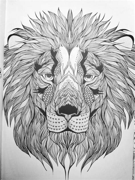 Pin by Jenny Vincent on Art and doodles   Lion coloring pages, Cool coloring pages, Coloring pages