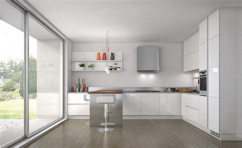 white floor l 30 contemporary white kitchens ideas