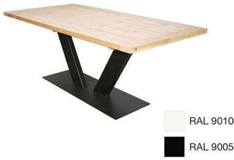 eiken tafel zwart maken bol v poot eettafel 90x180cm zwart