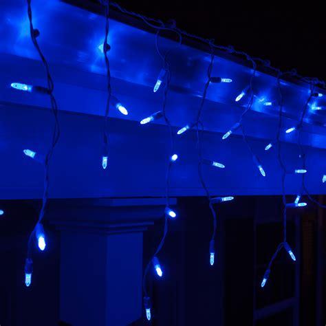 blue outdoor christmas lights led christmas lights 70 m5 blue led icicle lights