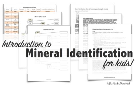 Mineral Identification Stations & Flowchart  Half A Hundred Acre Wood