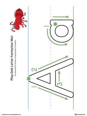 letter    dot worksheet color myteachingstationcom
