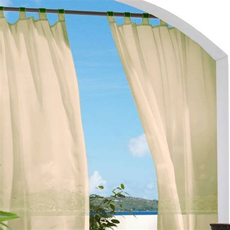 escape hook and loop tab top outdoor curtain panel