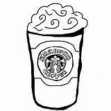 Starbucks Coloring Cup Coffee Pages Printable Colouring Outline Frappuccino Template Zoeken Google Collab Rebecca Valentines Categories Drawings sketch template