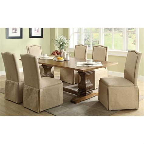 coaster parkins 7 dining table and chair set in