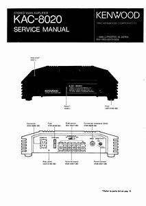 Kenwood Kac8020 Service Manual