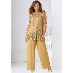 barn wedding plus size beaded bronze special occasion pant suit at roaman polyvore