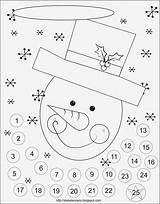 Advent Calendar Printable sketch template