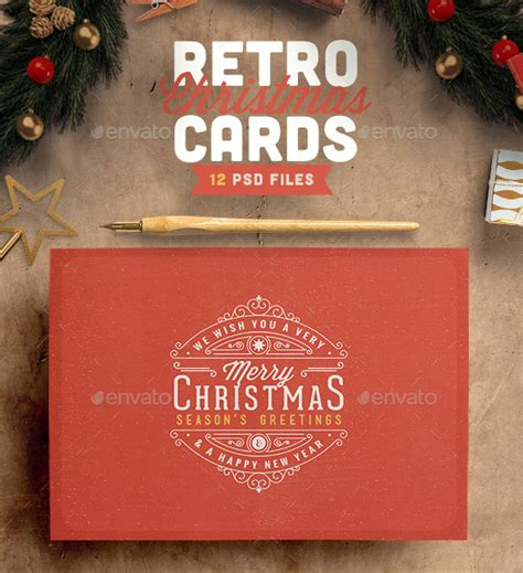 Ol Psd Christmas Card Templates Web Graphic