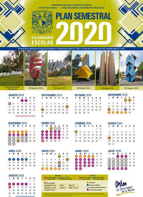 calendario anual semestral facultad de estudios