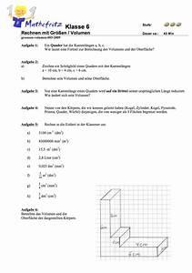 Oberflächeninhalt Quader Berechnen : aufgaben volumen quader w erfel matheaufgaben klasse 6 ~ Themetempest.com Abrechnung