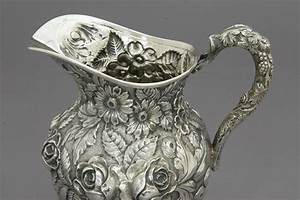 Sterling Silver Repousse Pitcher