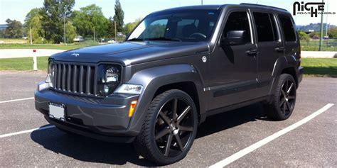 black jeep liberty with black rims car jeep liberty on niche sport series verona m150