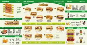 Our Sub Licious Menu Subway Al Qasba Sharjah Facebook