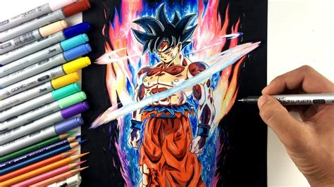 drawing goku  form ultra instinct limit breaker youtube