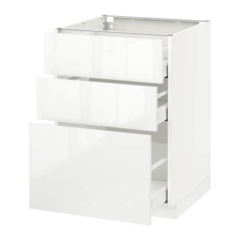 element bas cuisine ikea metod maximera 201 l 233 ment bas 3 tiroirs blanc ringhult brillant blanc 60x60 cm ikea