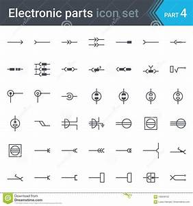 Electric And Electronic Circuit Diagram Symbols Set Of Electrical Connectors  Sockets  Plugs And