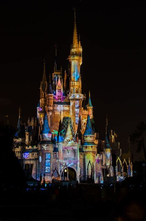 Disney Light Show by Cinderella S Castle At Disneyworld Light Show For A