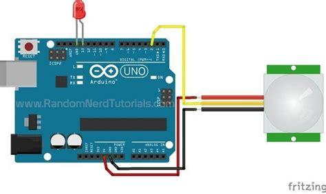 arduino with pir motion sensor random tutorials