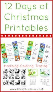 12 days of christmas printables 1 1 1 1