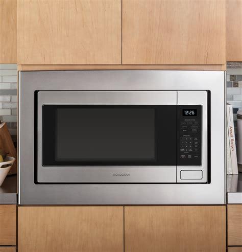 monogram  cu ft countertop microwave oven zebshss ge appliances