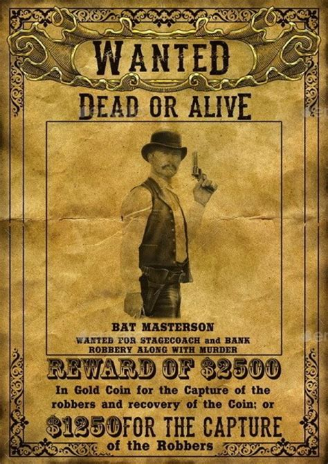 wanted poster templates psd