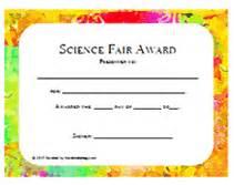 Stem Certificate Template by Printable Science Fair Awards School Certificates Templates