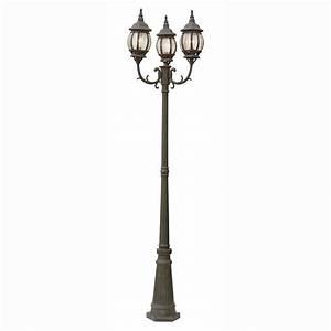 Bel air lighting filigree light rust outdoor lamp post