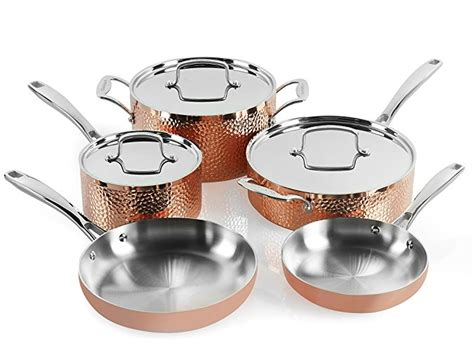 copper cookware amazon cuisinart sets hammered pans pots percent today hctp 8w piece dining normally via surprise someone much micromally