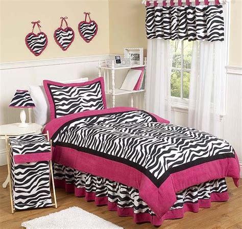 pink zebra print kids full queen size bed bedding