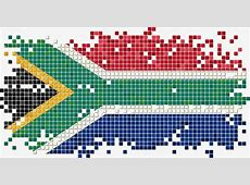 South African Flag Pixel Vector, Flag Vector, Flag Design