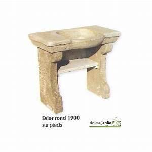 Evier D Exterieur Pour Jardin : evier 1900 en pierre reconstitu e rond style ancien ~ Premium-room.com Idées de Décoration