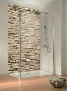 badezimmer dusche ideen verblender trend auch in der dusche duschrückwand mit digitaldruck täuschend echt