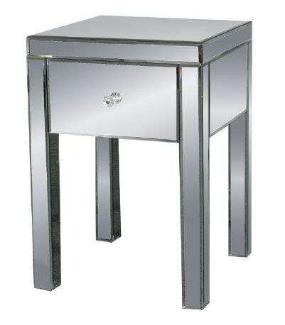 mirrored end tables nightstands mirrored end table nightstand 18 quot x27 quot h