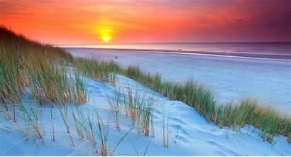 Sand Beach Dune Sunset Grass Landscape Sea