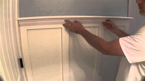 fancy wood trim build simple bathroom wainscot pt 2