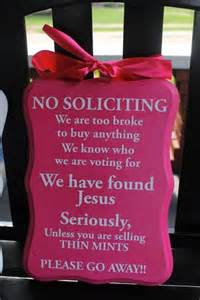 Front Door No Soliciting Sign