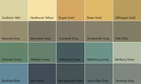 benjamin exterior paint color chart home painting