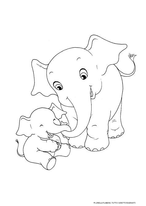 elefanti disegno da colorare festa della mamma idee
